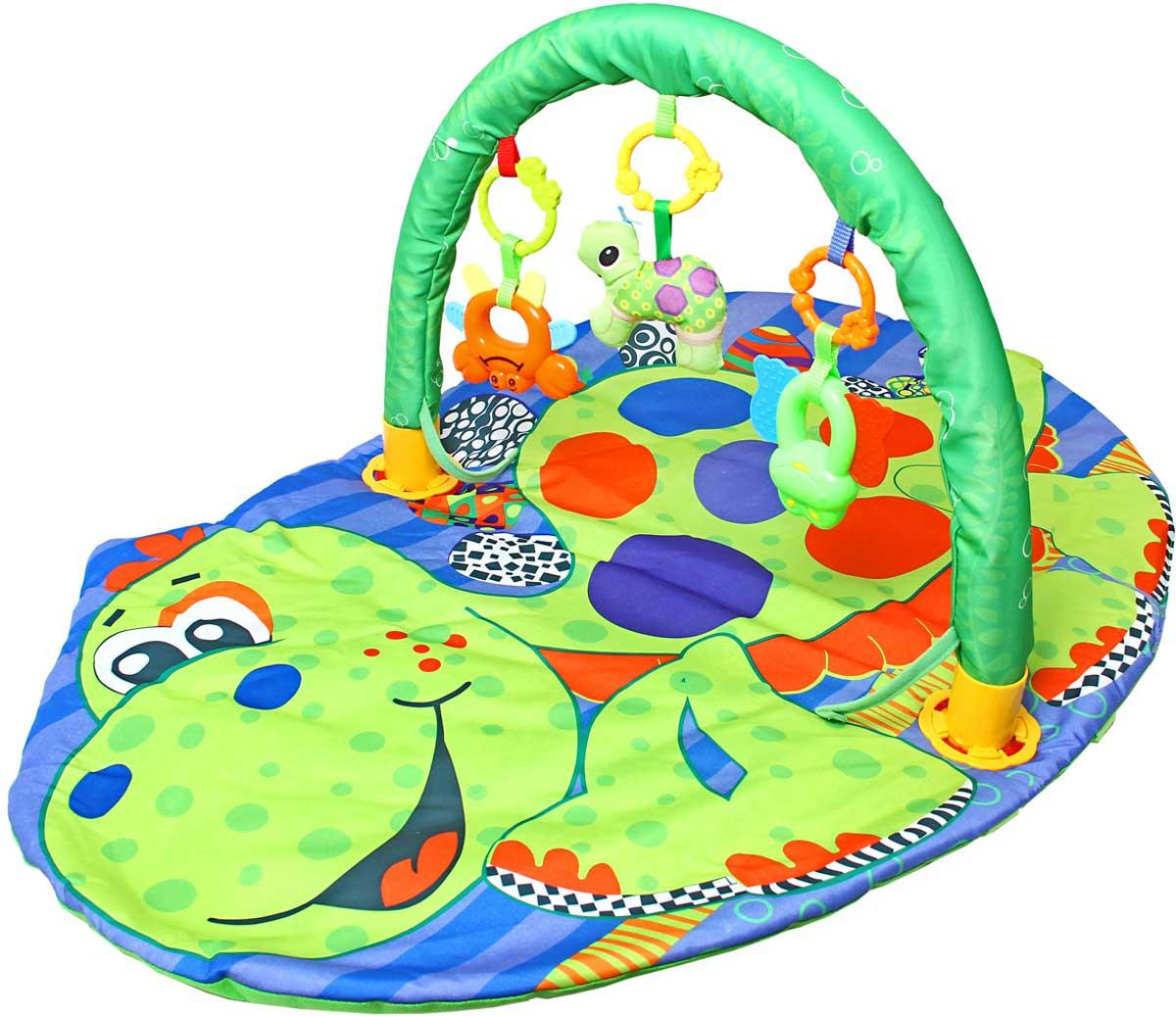 Ути-Пути Развивающий коврик Разноцветная черепаха
