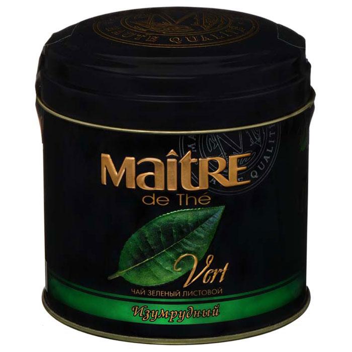 Maitre Изумрудный зеленый листовой чай, 100 гбар015Мэтр де Тэ представляет вам чай Изумрудный, входящий в число самых знаменитых китайских чаев под именем Маодзян (Maojian). Настой красивого изумрудного цвета, тонкий изысканный аромат и цветочный вкус с легкой сладостью порадуют истинных гурманов и ценителей чая.