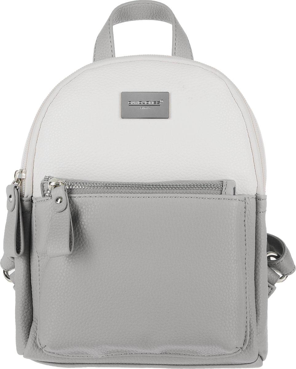 Рюкзак женский David Jones, цвет: серый. 75507-475507-4 GREYРюкзак. Одно отделение, один карман, внешний карман на передней стенке (на молнии).