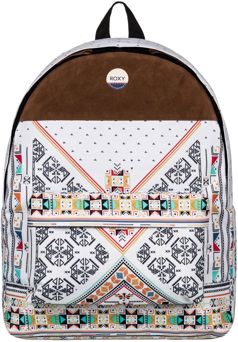 Рюкзак городской женский Roxy Sugar Baby, цвет: бежевый, коричневый, 16 л. ERJBP03398-WBT6ERJBP03398-WBT6