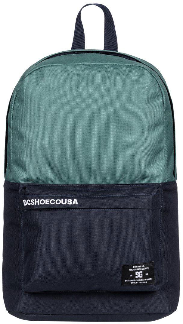Рюкзак городской мужской DC Shoes Bunker CB, цвет: зеленый, синий, 18,5 л. EDYBP03092-BPF0EDYBP03092-BPF0