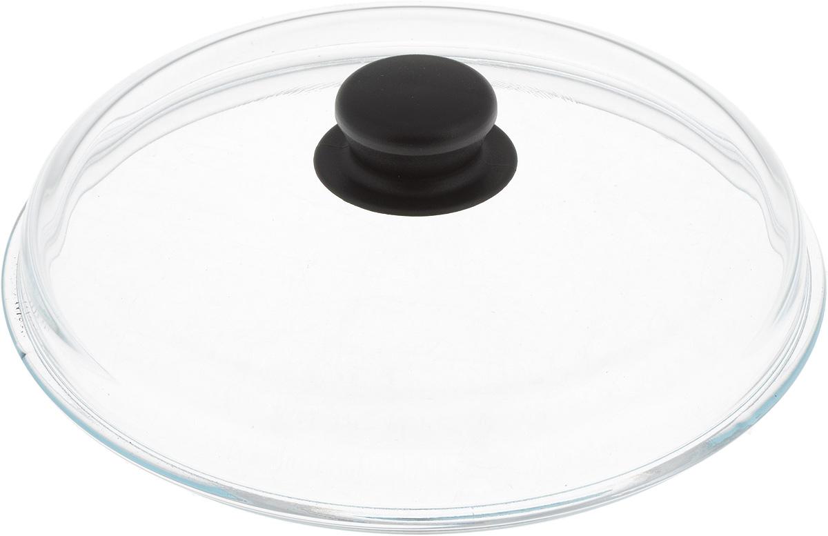 Крышка стеклянная VGP. Диаметр 24 см719Жаропрочная крышка VGP, выполненная из закаленного термостойкого стекла, оснащена удобной пластиковой ручкой, которая не скользит в руке и остается холодной во время приготовления блюд. Подходит для кастрюль, сотейников и сковород. Прозрачная крышка позволяет полностью контролировать процесс приготовления без потери тепла, а паровыпускной клапан исключает риск ожогов и избыточного давления под крышкой. Можно мыть в посудомоечной машине.