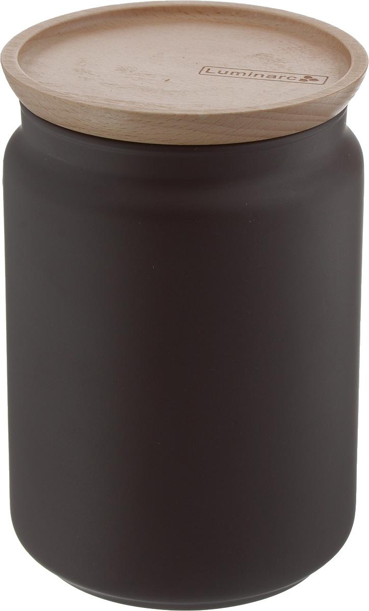 Банка для сыпучих продуктов Luminarc Boxmania. Bois Script, с деревянной крышкой, цвет: коричневый, 1 лJ6791Банка Luminarc Boxmania. Bois Script, выполненная из высококачественного стекла, станет незаменимым помощником на кухне. В ней будет удобно хранить разнообразные сыпучие продукты, такие как кофе, сахар, соль или специи. Прозрачная банка позволит следить, что и в каком количестве находится внутри. Банка надежно закрывается деревянной крышкой, которая снабжена силиконовым уплотнителем для лучшей фиксации. Такая банка не только сэкономит место на вашей кухне, но и украсит интерьер. Объем: 1 л. Диаметр банки (по верхнему краю): 9 см. Высота банки (без учета крышки): 14,2 см.