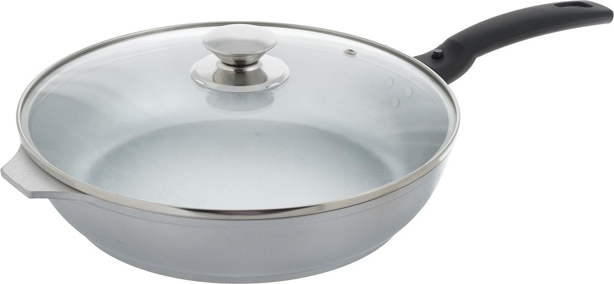 Сковорода Kukmara, с крышкой, со съемной ручкой. Диаметр 26 смС266Сковорода Kukmara изготовлена из высококачественного алюминия. С таким покрытием пища не пригорает и посуда легко моется. Благодаря прочному дну происходит идеальное и равномерное распределение тепла. Сковорода имеет удобную съемную ручку, изготовленную из ненагревающегося материала и стеклянную крышку. Подходит для электрических и газовых плит. Диаметр сковороды (по верхнему краю): 26 см. Высота стенки сковороды: 6 см. Длина ручки сковороды: 17,5 см.