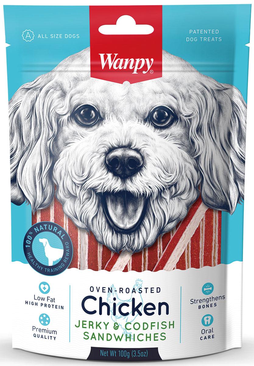 Лакомство для собак Wanpy Dog, курица с треской в форме сэндвича, 100 гCC-01SWanpy Dog лакомство курица с треской в форме сэндвича100г. Вкусное и натуральное лакомство для собак. Применение: давать в виде дополнения к основному питанию. У животного всегда должна быть свежая вода. Внимание! Абсорбент, находящийся внутри упаковки не подлежит скармлению животным, предназначен для предотвращения образования влаги внутри упаковки. ес упаковки 100г.Анализ компонентов: Сырой белок 28,0%; Сырой жир 1,0 %; Клетчатка 0,5%; Зола 3,0%; Влага 30,0%Состав: курица, глицерин, треска, белки животного происхождения, крахмал, чесночный порошок, разрешенные ЕС красители, соль, сахар, растительное маслоРекомендации по кормлению: давать в виде дополнения к основному питанию. Свежая вода всегда должна быть доступна вашему питомцу.