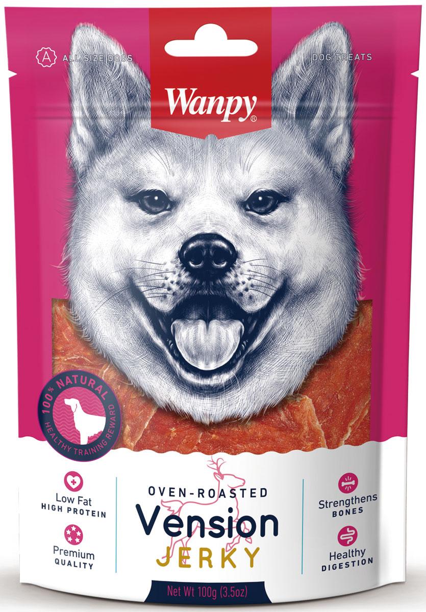 """Лакомство для собак Wanpy """"Dog"""", филе из оленины, 100 г VA-01H"""