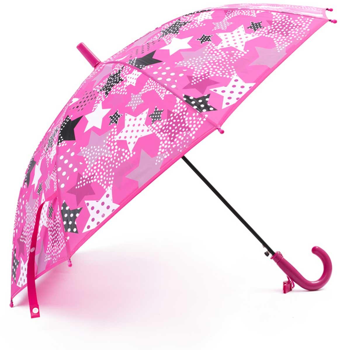 Зонт для девочки PlayToday, цвет: розовый, светло-розовый, белый, черный. 172702. Размер 48.5172702Этот яркий зонтик обязательно понравится Вашему ребенку! Оснащен специальной безопасной системой открывания и закрывания. Материал каркаса ветроустойчивый. Концы спиц снабжены пластмассовыми наконечниками для защиты от травм. Такой зонт идеально подойдет для прогулок в дождливую погоду. Преимущества: Оснащен специальной безопасной системой открывания и закрывания Концы спиц снабжены пластмассовыми наконечниками для защиты от травм