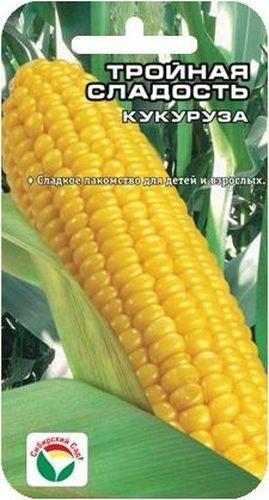 Семена Сибирский сад Кукуруза. Тройная сладость, 10 штBP-00000239Необычайно сладкий раннеспелый сорт. От всходов до технической спелости 100 дней. Растения высотой 160-200 см формируют большое количество початков длиной 16-20 см, средней массой 200 г. Зерно высоких вкусовых качеств, богато сахарами, белками, витаминами B2 и РР. Идеально подходит для употребления в свежем виде, консервирования и заморозки. Сорт устойчив к резким переменам погодных условий, высокоурожаен. Условия выращивания: через рассаду или семенами в открытый грунт. Семена перед посадкой замачивают на сутки в воде. Посев в открытый грунт, когда минует угроза возвратных заморозков, при прогревании почвы до +12°С. Глубина заделки семян до 5 см. Уход: прополка, рыхление, окучивание перед образованием метелок. Полив по мере необходимости. Хорошо отзывается на внесение органического или полного минерального удобрения до посева. Сахарную кукурузу рекомендуется выращивать отдельно от других сортов, так как перекрестное опыление снижает сладость...