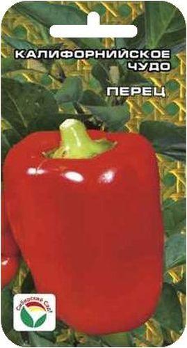 Семена Сибирский сад Перец. Калифорнийское чудо, 15 штBP-00000340Популярный во всем мире среднеспелый крупноплодный сорт. От всходов до технической спелости 100-120 дней. Отличается высокой урожайностью, привлекательным внешним видом, хорошими вкусовыми и товарными качествами. Растение среднерослое, высотой 60-75 см. Плоды кубовидной формы, очень крупные, массой до 160 г, с толщиной стенок до 7 мм. Окраска насыщенно-красная, яркая. Сладкий, с сильным перечным ароматом, великолепно подходит для приготовления салатов и фаршировки. Урожайность достигает 8-10 кг с 1 м2. Устойчив к вирусу табачной мозаики. Посев на рассаду производят за 60-70 дней до высадки растений на постоянное место. Оптимальная постоянная температура прорастания семян 26-28°С. При высадке в грунт на 1 м2 размещают до 5-6 растений. Сорт хорошо реагирует на полив и подкормки комплексными минеральными удобрениями. Для ускорения процесса всхожести семян, оздоровления растений, улучшения завязываемости плодов рекомендуется пользоваться специально ...