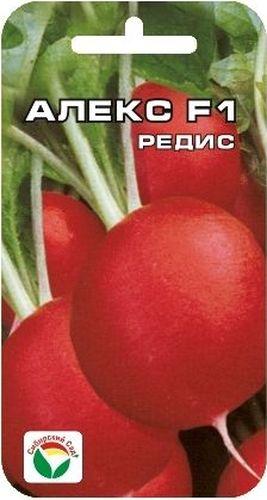 Семена Сибирский сад Редис. Алекс F1BP-00000369Ультраскороспелый (16дней),для многократного посева в летний период.Мякоть белая, сочная,с отличным вкусом.Корнеплоды устойчивы к растрескиванию,дряблости.