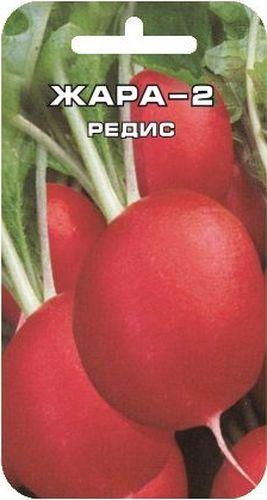 Семена Сибирский сад Редис. Жара-2, 2 гBP-00000380Полученная на основе селекционного отбора разновидность раннеспелого сорта Жара. Сохраняя все достоинства любимого всеми сорта, Жара-2 имеет более крупные корнеплоды (до 50% массы). Сорт ранний, от всходов до технической спелости 20-25 дней. Корнеплоды округлые, красно-малиновой окраски, с белой плотной мякотью, слабоострого вкуса. Не дрябнут. Рекомендован для повсеместного выращивания. Вес: 2 г.