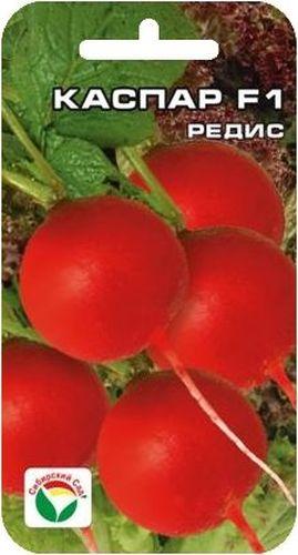 Семена Сибирский сад Редис. Каспар F1BP-00000381Лучший гибрид для открытого грунта. Устойчив к стрессовым погодным условиям, засухе, увяданию и растрескиванию. Корнеплоды массой до 30гр, диаметром 3 см.