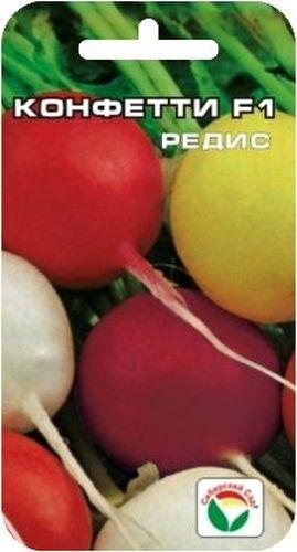 Семена Сибирский сад Редис. Конфетти, 2 гBP-00000383Оригинальная гибридная форма редиса алтайских селекционеров с разноцветными корнеплодами. Созревание корнеплодов начинается с возраста растений 18 дней и продолжается до 35 дней. При этом увеличивается урожайность и формируется корнеплоды высокого качества. Плоды округлой формы, разноцветные по окраске: белые, красные, фиолетовые, желтые. Мякоть белая, плотная, сочная, не пустеет. Пригоден для выращивания в открытом и и защищенном грунте в разные сроки посева: ранневесенние, летние, осенние. Для ускорения процесса всхожести семян, оздоровления растений, улучшения завязываемости плодов рекомендуется использовать специально разработанные стимуляторы роста и развития растений. Вес: 2 г.