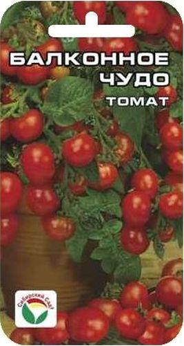 Семена Сибирский сад Томат. Балконное чудо, 20 штBP-00000438Отличный ультраскороспелый карликовый сорт для любителей мини - огородов на окне и балконе, а также для уплотненной посадки в открытом грунте. Низкие, компактные кустики высотой 25-30 см, отличаются высокой декоративностью и привлекательностью. Растение формирует 4-5 кистей с шестью семью крупными ярко-красными плотными плодами, массой 30-40 г. Плоды ароматные и очень сладкие, пригодны для употребления в свежем виде, украшение блюд, консервирования. Сорт обладает хорошей завязываемостью плодов даже в неблагоприятных условиях, не требует пасынкования и подвязки. Урожайность сорта 1,5 кг с куста. Посев на рассаду производиться за 50-60 дней до высадки растений на постоянное место. Оптимальная постоянная температура прорастания семян 23- 25°С. При высадке в грунт на 1 м2 размещают 5 растений. Сорт хорошо реагирует на полив и подкормки комплексными минеральными удобрениями. Для ускорения процесса всхожести семян, оздоровления растений, улучшения...