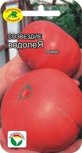 Семена Сибирский сад Томат. ВодолейBP-00000475Среднеранний, высотой до 2м. В зависимости от сроков посадки формирует до 7 кистей. Плоды глодкие малинового цвета, массой 360-600гр.
