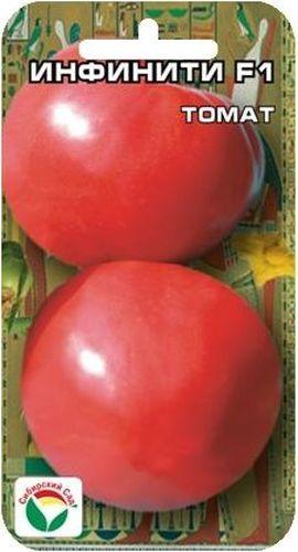 Семена Сибирский сад Томат. Инфинити, 15 штBP-00000523Раннеспелый (95-100 дней), крупноплодный гибрид для пленочных теплиц и открытого грунта. Растение средневетвистое, высотой до 1,7 м, первое соцветие закладывается над 5-7 листом, последующие через 1-2 листа, в кисти по 5-6 плодов. Плоды округлой формы, гладкие, плотные, без зеленого пятна у основания, массой до 300 г. Отличается раннеспелостью и дружным созреванием плодов. Вкусовые качества великолепные. Жаро- и стрессоустойчив, не трескается, транспортабельность плодов очень высокая. Урожайность до 17 кг с 1 м2. Посев на рассаду производят за 50-60 дней до высадки растений на постоянное место. Оптимальная постоянная температура прорастания семян 23-25°С. При высадке в грунт на 1 м2 размещают 3 растения. Гибрид отзывчив на внесение удобрений и технологию возделывания. Выращивается в 1-2 стебля с подвязкой и пасынкованием.
