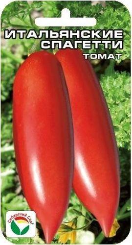 Семена Сибирский сад Томат. Итальянские спагетти, 20 штBP-00000527Интересный среднеранний сорт для защищенного грунта с вытянутыми длинными плодами. Растение индетерминантное, высотой до 2 м, формирует до 6 кистей с малиново-красными сигаровидными плодами длиной до 15 см. Плоды мясистые, плотные, с малым количеством семян, массой 100-150 грамм. Обладают великолепной лежкостью, прекрасно дозариваются, не теряя товарных качеств, очень вкусны в свежем виде, остаются плотными и крепкими в консервации и засоле. Сорт характеризуется стабильно высокой урожайностью до 5 кг с 1 м2. Посев на рассаду производят за 50-60 дней до высадки растений на постоянное место. Оптимальная постоянная температура прорастания семян 23-25°С. При высадке в грунт на 1 м2 размещают 3 растения. Сорт хорошо реагирует на полив и подкормки комплексными минеральными удобрениями. Выращивается в 1-2 стебля с подвязкой и пасынкованием. Для ускорения процесса всхожести семян, оздоровления растений, улучшения завязываемости плодов рекомендуется...