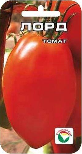 Семена Сибирский сад Томат. ЛордBP-00000564Среднеранний неприхотливый сорт для открытого грунта. Куст низкорослый, высотой всего 40-50см., выращивается без пасынкования. Плоды красивой овальной формы, крупные, массой до 180гр., плотные. Сорт обеспечивает стабильно высокую урожайность в условиях сибирского лета.