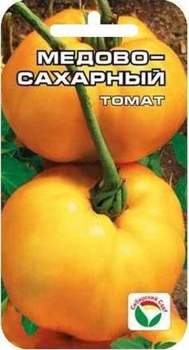 Семена Сибирский сад Томат. Медово-сахарный, 20 штBP-00000578Вкусный крупноплодный сорт сибирских селекционеров. Отличается плодами яркой медово-желтой окраски с нежным сахарным вкусом. Растение высотой 0,8-1,5 м, при хорошем уходе завязывает до 7 кистей округлых выровненных плодов массой до 400 г. Плоды приятной плотной консистенции и вкуса, могут быть рекомендованы для детского и диетического питания. Сорт обладает стабильно хорошей урожайностью в разные по климатическим условиям годы. Рекомендуется для выращивания в открытом и защищенном грунте. Посев на рассаду производят за 50-60 дней до высадки растений на постоянное место. Оптимальная постоянная температура прорастания семян 23-25°С. При высадке в грунт на 1 м2 размещают 3 растения. Формируется в 1 стебель, с пасынкованием и подвязкой. Сорт хорошо реагирует на полив и подкормки комплексными минеральными удобрения.