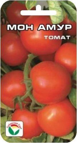 Семена Сибирский сад Томат. Мон амурBP-00000582Дружная и ранняя отдача урожая - важное достоинство сорта, позволяющее получать раннюю томатную продукцию высокого качества. Очень ранний сорт. Куст высотой до 140см закладывает до 7 кистей с плодами массой до 100гр.