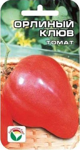 Семена Сибирский сад Томат. Орлиный клюв, 20 штBP-00000599Среднеспелый сорт сибирских селекционеров с крупными плодами весом до 800 г необычной клювовидной формы. Рекомендуется для выращивания в открытом и защищенном грунте. Растение среднерослое, в зависимости от условий выращивания высотой от 1,2 до 1,5 м, требует подвязки и умеренного пасынкования. Плоды малиново-розового цвета, вкусные, формой напоминают мощный изогнутый клюв орла. Мякоть малосеменная и очень плотная, что обеспечивает хорошую лежкость и высокие засолочные качества плодов. По урожайности (до 6-8 кг с растения) данный сорт можно назвать одним из лучших среди крупноплодных томатов. В первой фазе плодоношения плоды особо крупные, весом до 800 г, последующие средние, массой 200-400 г. Посев на рассаду проводят за 60-70 дней до высадки на постоянное место. Перед посадкой семена замачивают и высевают на глубину 1 см по схеме 3x1,5 см. Оптимальная постоянная температура прорастания семян 23-25°С. Пикировка производится после появления второго...