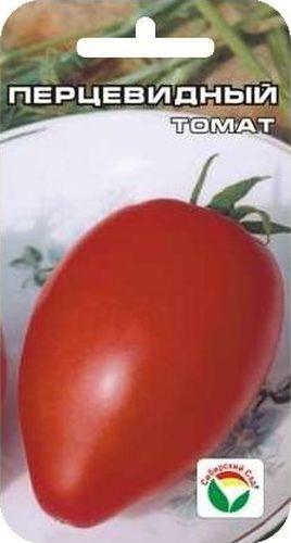 Семена Сибирский сад Томат. Перцевидный, 20 штBP-00000605Популярный сорт с мясистыми и сладкими плодами перцевидной формы, красного цвета, массой 80-100 г. Плоды практически не содержат жидкости и мало семян. Сорт универсального назначения, очень урожайный, среднеспелый. Растение индетерминантное, соцветие простое и промежуточного типа, первое соцветие над 9 листом, последующие через 3 листа. Плод ярко-красный, цилиндрический со сбегом, слаборебристый, массой до 100 грамм. Вкусовые качества томатов очень хороши, плоды используются для приготовления свежих салатов, засола и консервирования, пригодны для фарширования. Товарная урожайность 6-6,5 кг с 1 м2. Сорт рекомендуется для выращивания в открытом и защищенном грунте. Посев на рассаду производят за 50-60 дней до высадки растений на постоянное место. Оптимальная постоянная температура прорастания семян 23-25°С. При высадке в грунт на 1 м2 размещают 3 растения. Требует пасынкования и подвязки. Сорт хорошо реагирует на полив и подкормки комплексными минеральными...