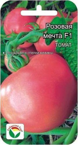 Семена Сибирский сад Томат. Розовая мечтаBP-00000624Среднеранний гибрид, отличающийся достаточно крупными плодами цвета спелой малины. Растение среднеоблиственное, высотой 90-120см, может выращиваться как в защищенном, так и в открытом грунте. Кисть простая с 5-6 плодами массой 200-250гр. Окраска зрелого плода интенсивно малиновая. Томаты округлые, плотные, вкусные.