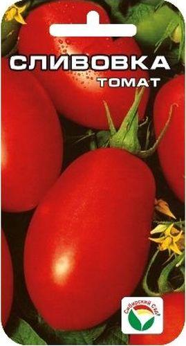 Семена Сибирский сад Томат. Сливовка, 20 штBP-00000665Раннеспелый низкорослый (35-40 см) детерминантный сорт. Плоды красные, сливовидной формы, массой 80-100 г, используются в свежем виде, но особенно хороши для цельноплодного консервирования. Выращивается в 2-3 стебля, возможно без пасынкования, в открытом грунте. Ценность сорта - раннеспелость, стабильная продуктивность, оригинальная сливовидная форма и непревзойденные засолочные качества плодов. Сорт устойчив к неблагоприятным погодным условиям. Сорт хорошо реагирует на полив и подкормки комплексными минеральными удобрениями. Для ускорения процесса всхожести семян, улучшения завязываемости плодов рекомендуется пользоваться специально разработанными стимуляторами роста и развития растений