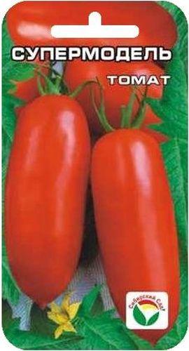 Семена Сибирский сад Томат. СупермодельBP-00000679Среднеранний сорт, с очень выровненными стройными плодами удлиненной формы. Высота растения до 70см. Плоды розово-красные, длиной 12см, массой до 100гр.