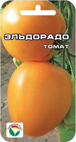 Семена Сибирский сад Томат. Эльдорадо, 20 штBP-00000713Среднеранний урожайный сорт для пленочных теплиц и открытого грунта, радующий глаз крупными лимонно-желтыми плодами. С момента появления полных всходов до начала созревания 108-110 дней. Растение детерминантное, высотой до 90 см, формирует 4-5 кистей красивых гладких плодов сердцевидной формы, массой 200-400 г. Томаты плотные, но не жесткие. Вкус нежный, не резкий, что очень полезно для питания людей с различными заболеваниями желудочно- кишечного тракта. Урожайность сорта до 9 кг на 1 м2. Для получения максимальных урожаев желательно не допускать пересыхания почвы.