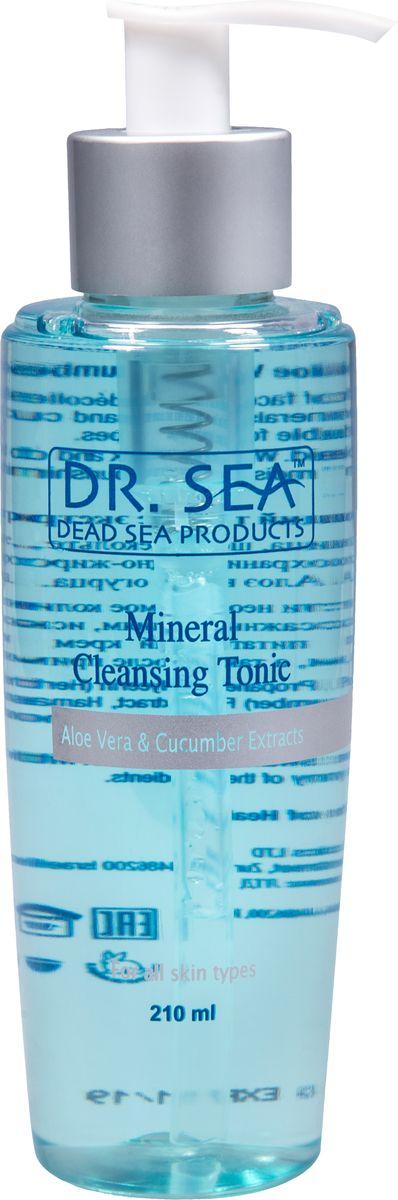 Dr.Sea Минеральный очищающий тоник с экстрактами Алоэ Вера и огурца, 210 мл215Тоник Dr. Sea оказывает превосходное очищающее и освежающее воздействие на кожу, успокаивает ее, активизирует кровообращение, способствует укреплению капилляров, поддерживает водный баланс кожи. Содержит минералы Мертвого моря, экстракты алоэ вера и огурца. Подходит для всех типов кожи. Способ применения: нанесите необходимое количество средства на ватный диск и протрите лицо и шею по массажным линиям, исключая область вокруг глаз. Затем нанесите увлажняющий или питательный крем серии Dr. Sea. Рекомендуется использовать утром и вечером, а также после применения маски или пилинга. Основу косметики Dr. Sea составляют минералы, грязи и органические вытяжки Мертвого моря, а также натуральные растительные экстракты. Косметические средства Dr. Sea разрабатываются и производятся исключительно на территории Израиля в новейших технологических условиях, позволяющих максимально раскрыть и сохранить целебные свойства природных компонентов. Ни в одном из препаратов не...