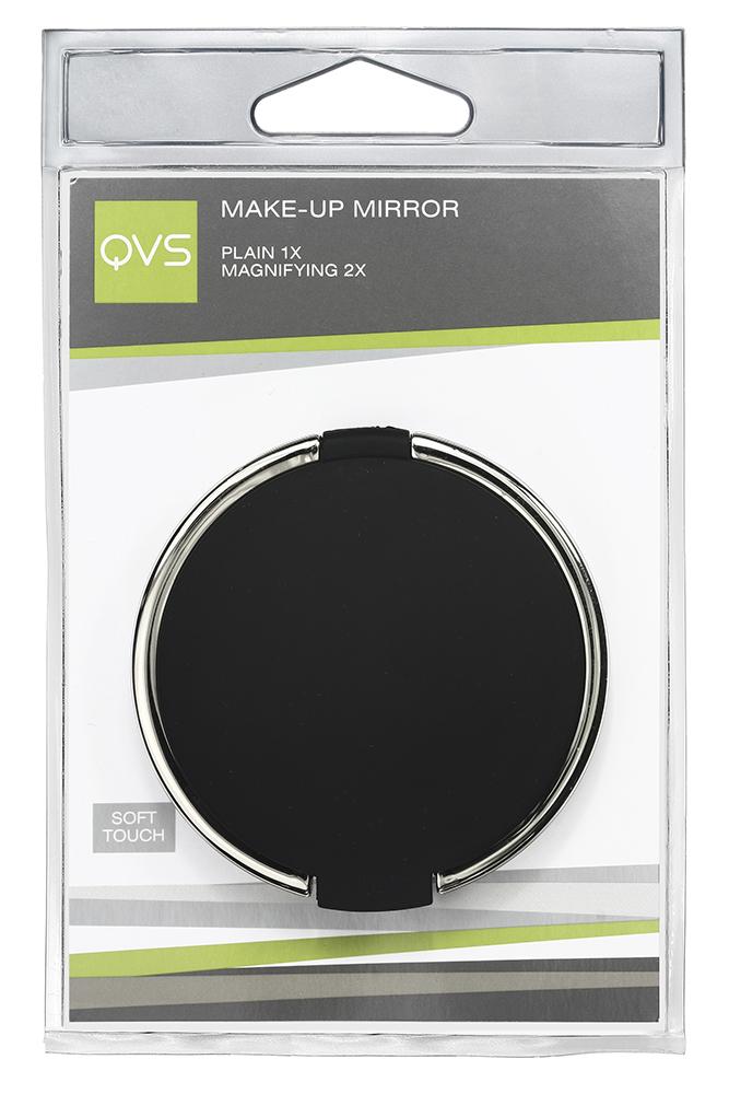 QVS Компактное зеркало для макияжа10-1269ЗЕРКАЛО ДЛЯ МАКИЯЖА ДВУСТОРОННЕЕ: ОБЫЧНОЕ И С 2-КРАТНЫМ УВЕЛИЧЕНИЕМ КОРПУС С ПОКРЫТИЕМ SOFT TOUCH Идеальный размер для хранения в Вашей сумочке или косметичке. Вы можете поправить макияж в любой момент! УХОД: Регулярно протирайте зеркало, избегайте повреждения зеркальной поверхности. ХРАНИТЬ В НЕДОСТУПНОМ ДЛЯ ДЕТЕЙ МЕСТЕ