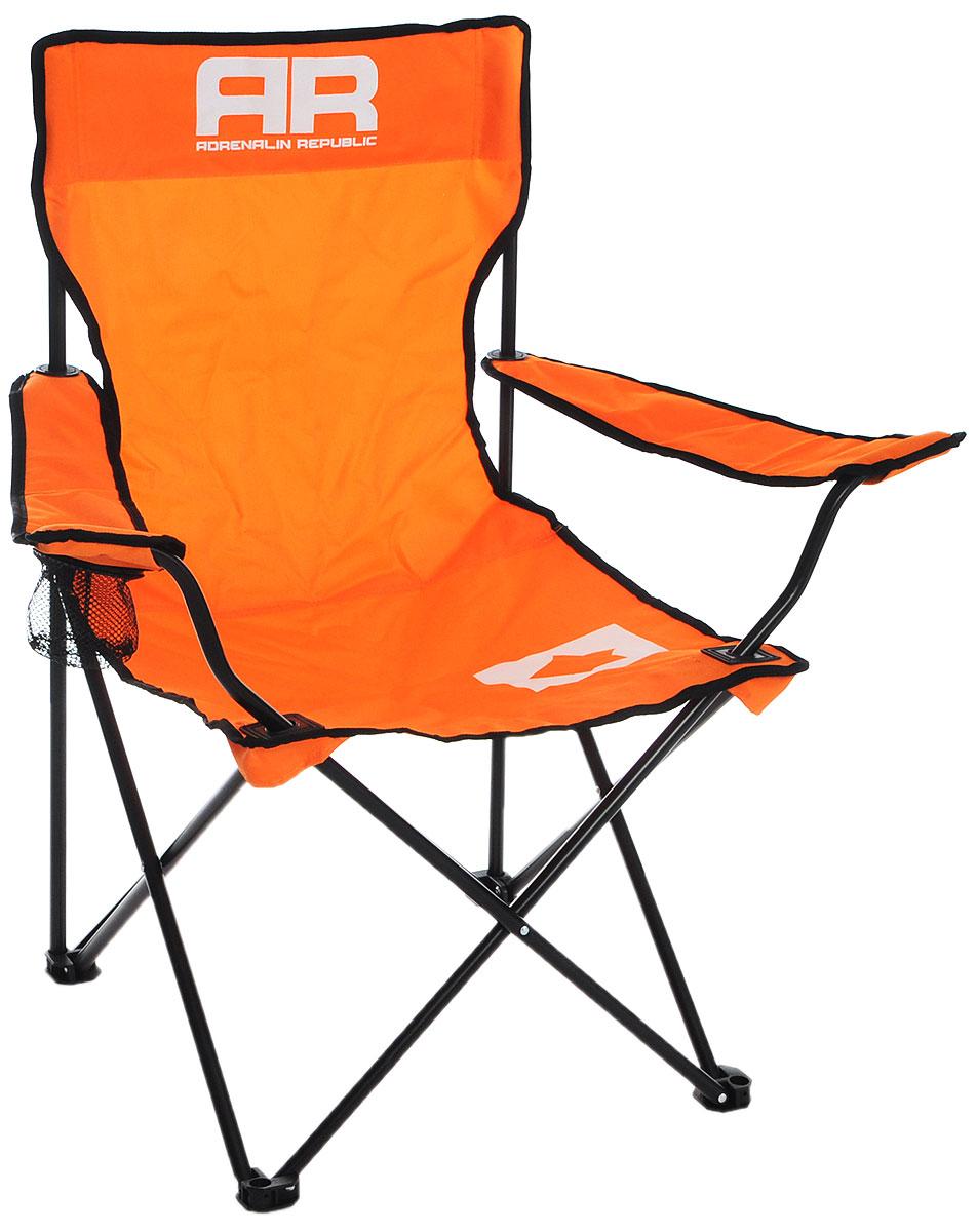 "Стул складной Adrenalin Republic ""Mac Tag JR"", цвет: оранжевый, черный, белый, 56 х 56 х 81 см 80086"