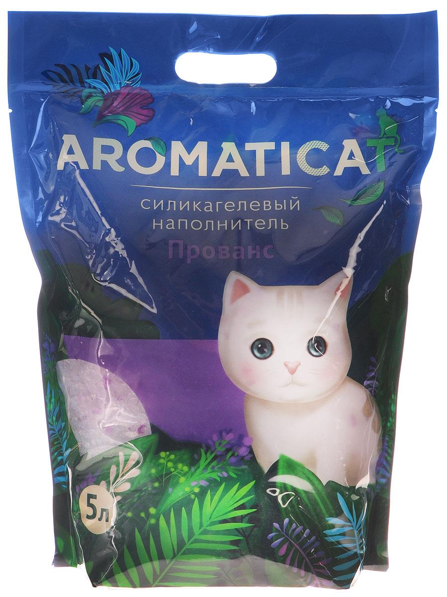 """Наполнитель для кошачьего туалета Aromaticat """"Прованс"""", силикагелевый, с ароматом лаванды, 5 л 00-00002001"""