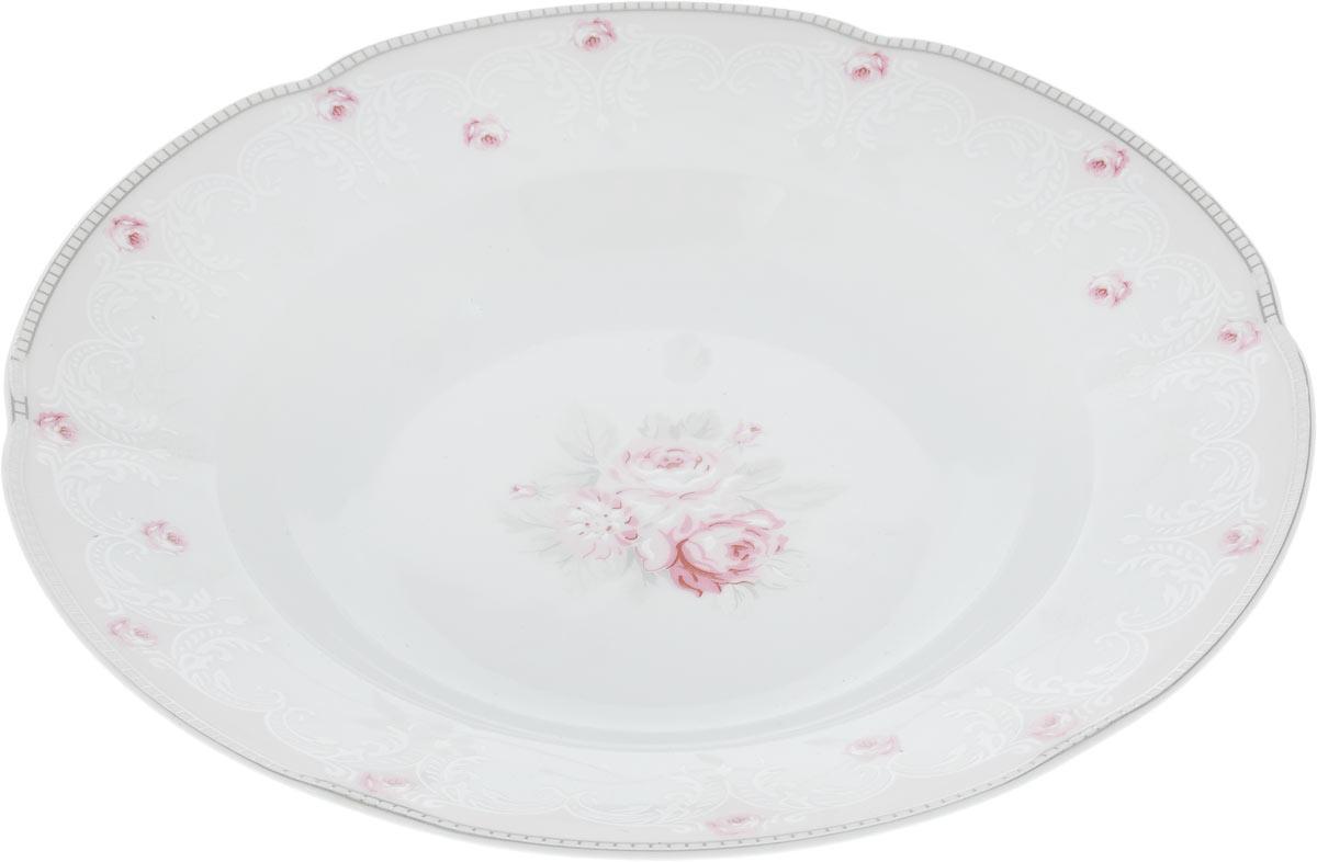 Тарелка глубокая Cmielow & Chodziez Bolero, диаметр 22,5 см0731490/G112Глубокая тарелка Cmielow & Chodziez Bolero, изготовленная из высококачественного фарфора с глазурованным покрытием, декорирована нежным цветочным рисунком. Такая тарелка украсит сервировку вашего стола и подчеркнет прекрасный вкус хозяина, а также станет отличным подарком. Диаметр тарелки (по верхнему краю): 22,5 см. Высота тарелки: 4 см.