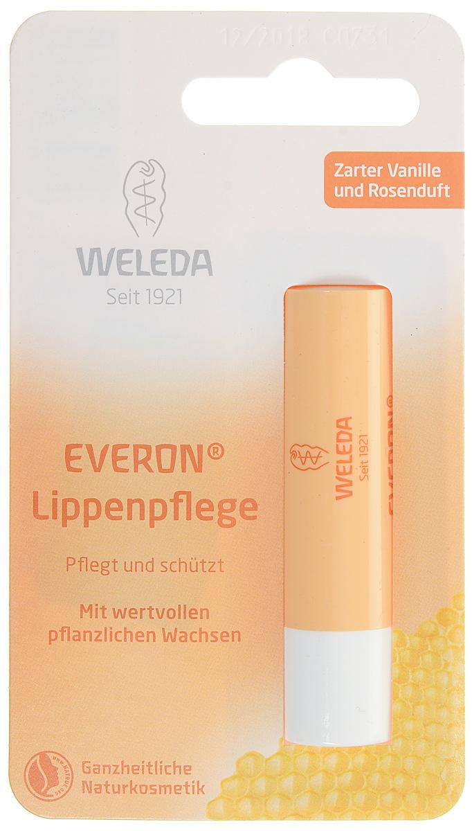 Weleda Бальзам для губ Everon 4,8 гр8838Бальзам для губ Everon Бальзам питает и защищает кожу губ. Масла ши и жожоба в сочетании с розовым и канделильским воском обеспечивают увлажнение, интенсивный уход и защиту от образования трещин. Композиция из абсолютно натуральных ингредиентов придаст Вашим губам эластичность и гладкость. Содержит природный фильтр SPF4. Способ применения: наносите на губы несколько раз в день по мере необходимости. Подходит в качестве базы под помаду. Бальзам прекрасно подходит и для Вашего малыша!