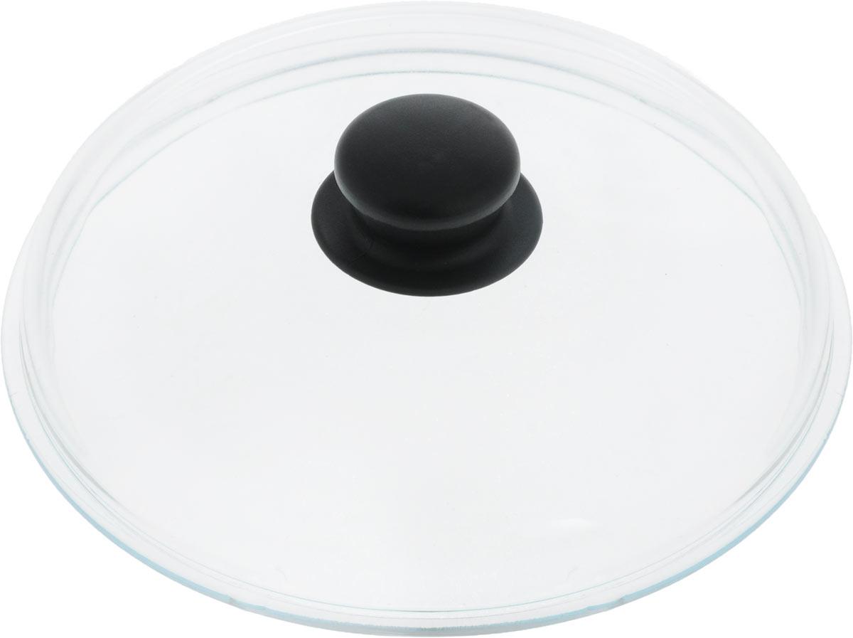 Крышка VGP. Диаметр 22 см702Жаропрочная крышка VGP, выполненная из закаленного термостойкого стекла, оснащена удобной пластиковой ручкой, которая не скользит в руке и остается холодной во время приготовления блюд. Подходит для кастрюль, сотейников и сковород. Прозрачная крышка позволяет полностью контролировать процесс приготовления без потери тепла, а паровыпускной клапан исключает риск ожогов и избыточного давления под крышкой. Можно мыть в посудомоечной машине.