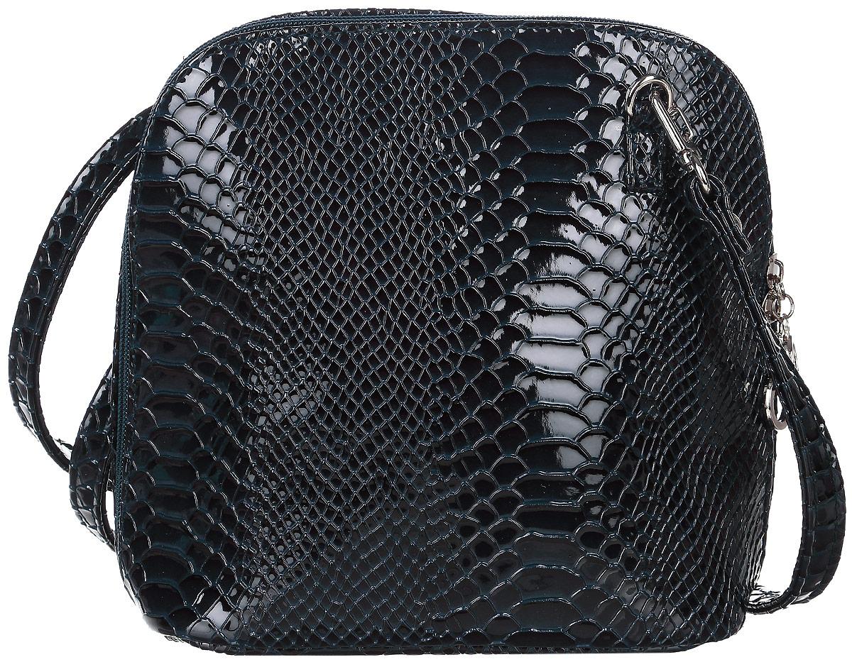 Сумка женская Аntan, цвет: темно-синий. 46700188633464670018863346Стильная женская сумка David Jones выполнена из искусственной кожи. Сумка имеет одно основное отделение, закрывающееся на застежку-молнию. Внутри модель имеет карман на застежке-молнии и накладной открытый карман. Изделие оснащено плечевым ремнем.