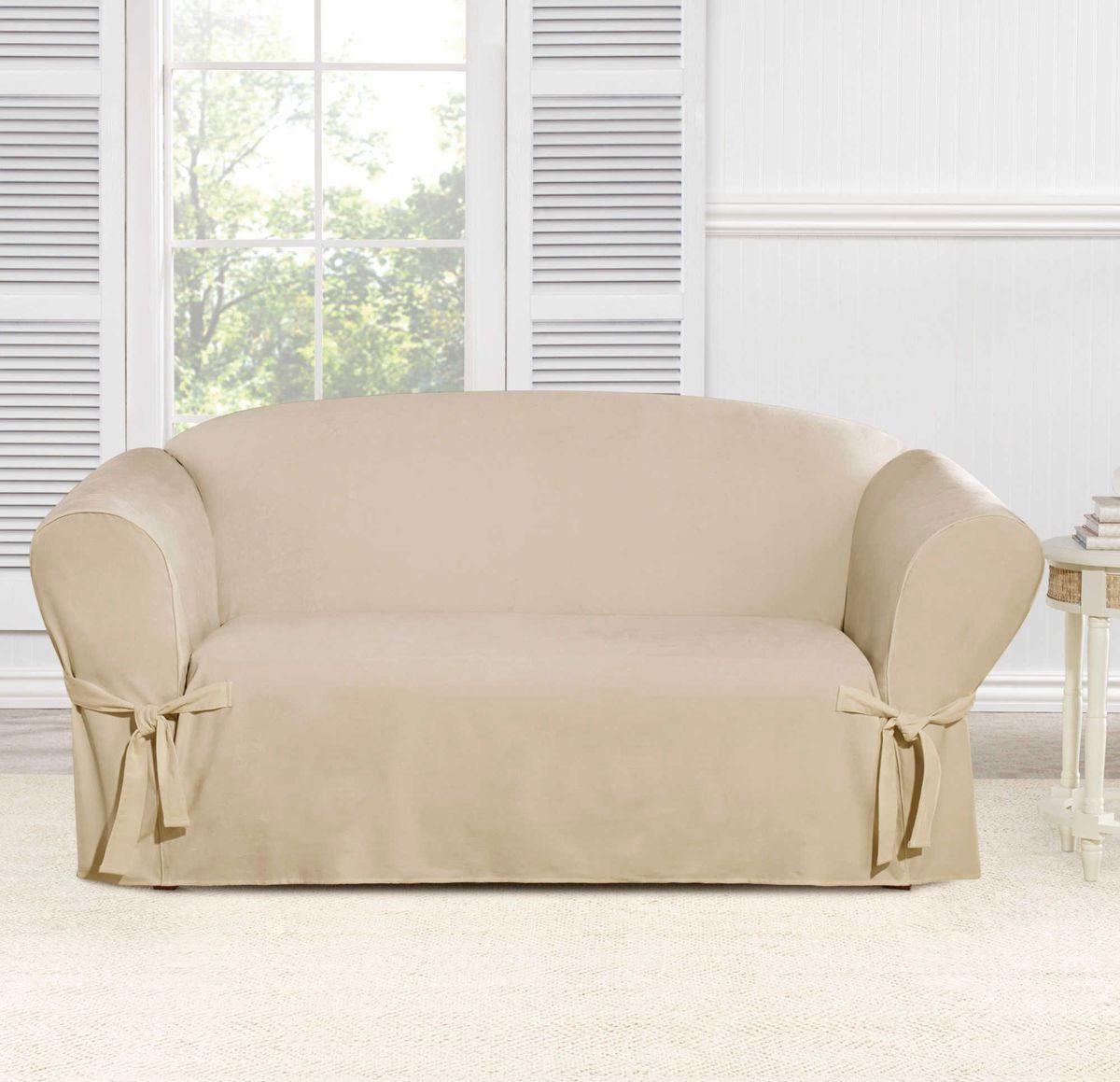 Чехол на трехместный диван Медежда Брайтон, цвет: бежевый1403011203000Чехол на трехместный диван Медежда Брайтон изготовлен из 60% хлопка и 40% полиэстера. Чехол не эластичен, но хорошо принимает форму дивана. Подходит для диванов с шириной спинки от 185 до 235 см. Благодаря классической однотонной расцветке чехол легко гармонирует почти со всеми палитрами цвета и любым типом интерьера. Изделие украсит вашу гостиную и создаст комфорт и уют в доме. Чехол очень удобен и прост в установке. Машинная стирка при температуре 30°С. Чехлы на мебель Медежда универсальны и подходят на большинство моделей мебели. Такова особенность кроя изделий свободного стиля или тянущегося материала стрейч стиля. Основное значение при подборе имеет только ширина спинки.