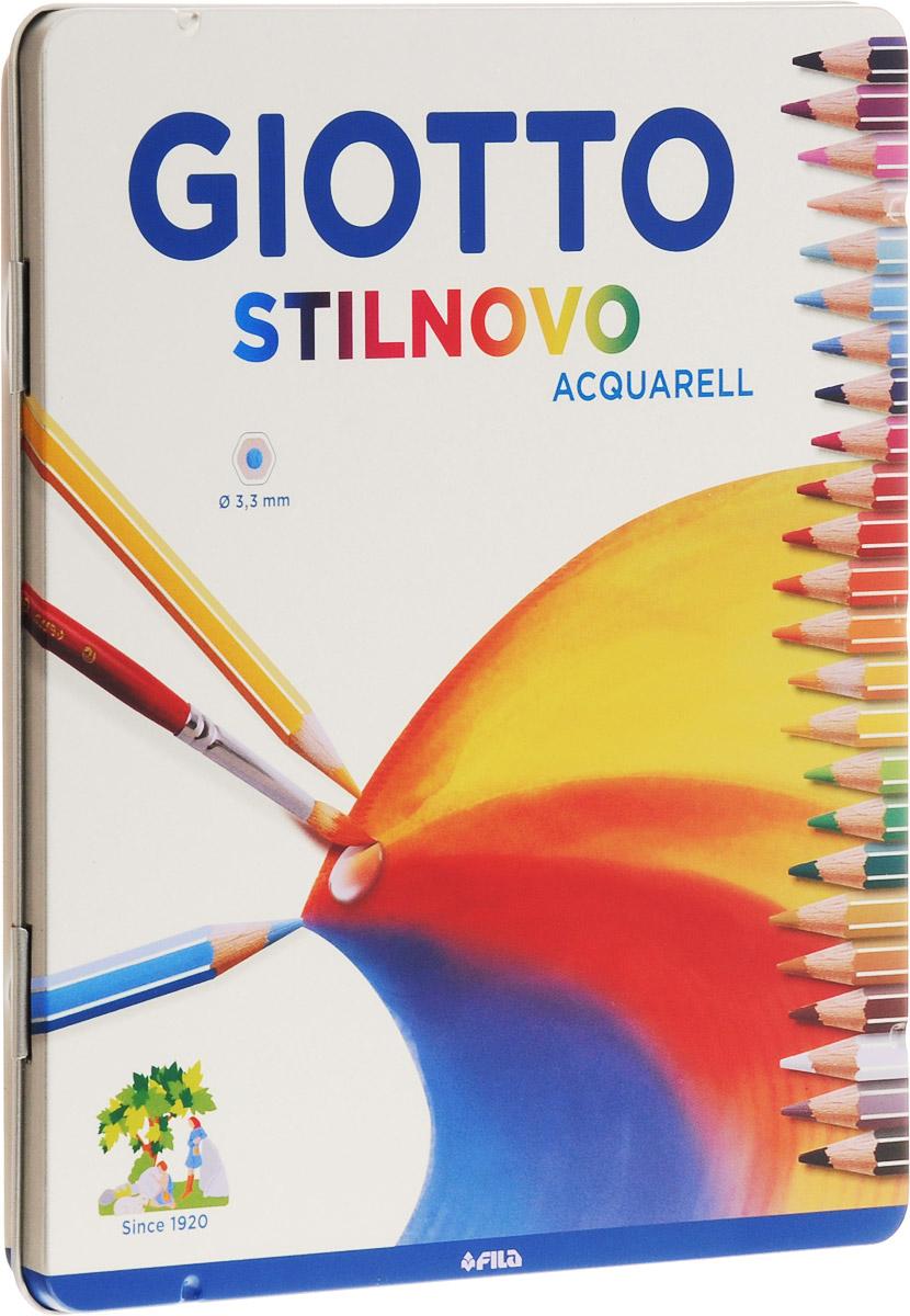 Giotto Набор цветных акварельных карандашей Stilnovo Acquarell 24 шт 256300