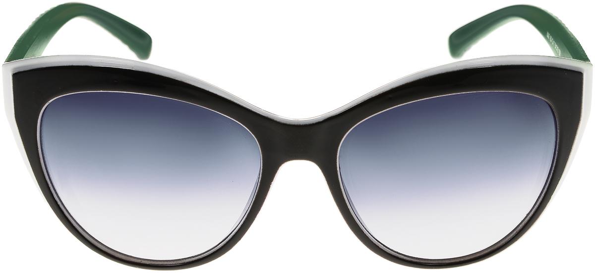 Очки солнцезащитные женские Vittorio Richi, цвет: черный, зеленый, белый. OC8067c80-13-11/17fOC8067c80-13-11/17fСолнцезащитные очки Vittorio Richi выполнены из высококачественного пластика. Пластик используемый при изготовлении линз не искажает изображение, не подвержен нагреванию и вредному воздействию солнечных лучей. Оправа очков легкая, прилегающей формы и поэтому обеспечивает максимальный комфорт. Такие очки защитят глаза от ультрафиолетовых лучей, подчеркнут вашу индивидуальность и сделают ваш образ завершенным.