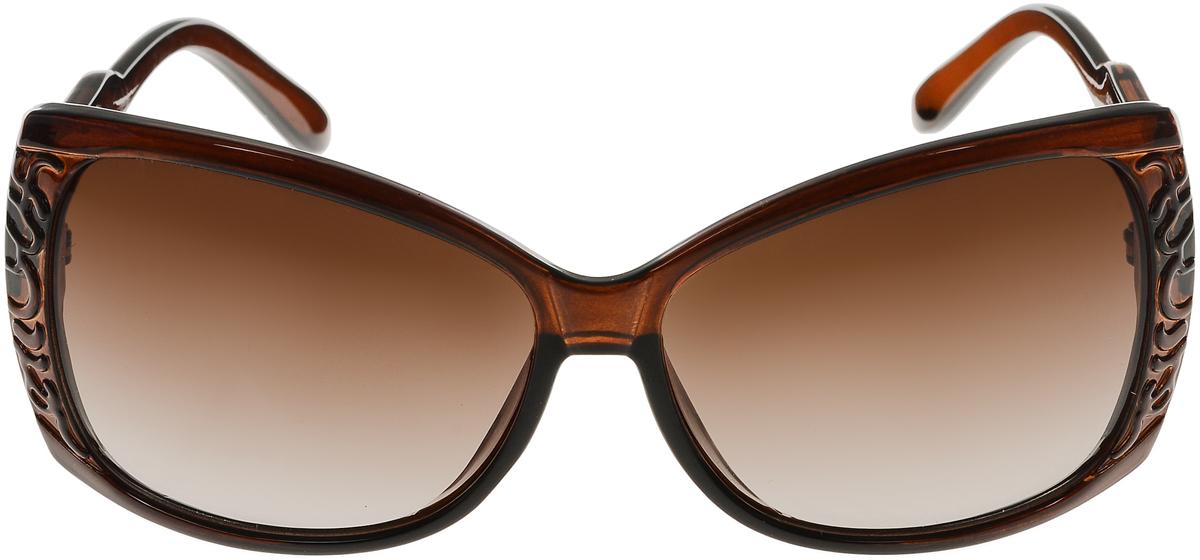 Очки солнцезащитные женские Vittorio Richi, цвет: коричневый. ОС5023с81-11/17fОС5023с81-11/17fСолнцезащитные очки Vittorio Richi выполнены из высококачественного пластика. Пластик используемый при изготовлении линз не искажает изображение, не подвержен нагреванию и вредному воздействию солнечных лучей. Оправа очков легкая, прилегающей формы и поэтому обеспечивает максимальный комфорт. Такие очки защитят глаза от ультрафиолетовых лучей, подчеркнут вашу индивидуальность и сделают ваш образ завершенным.
