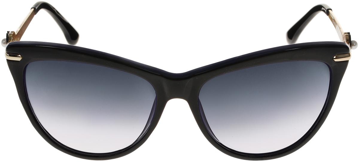 Очки солнцезащитные женские Vittorio Richi, цвет: черный, синий. ОС1636с6/17fОС1636с6/17fСолнцезащитные очки Vittorio Richi выполнены из высококачественного пластика и металла. Пластик используемый при изготовлении линз не искажает изображение, не подвержен нагреванию и вредному воздействию солнечных лучей. Оправа очков легкая, прилегающей формы и поэтому обеспечивает максимальный комфорт. Такие очки защитят глаза от ультрафиолетовых лучей, подчеркнут вашу индивидуальность и сделают ваш образ завершенным.