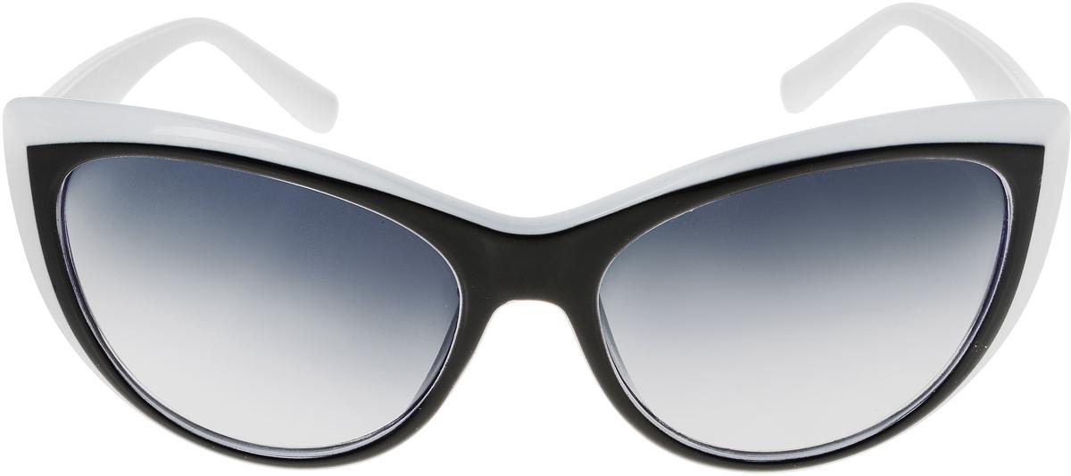 Очки солнцезащитные женские Vittorio Richi, цвет: черный, белый. ОС5009с80-13-1/17fОС5009с80-13-1/17fСолнцезащитные очки Vittorio Richi выполнены из высококачественного пластика. Пластик используемый при изготовлении линз не искажает изображение, не подвержен нагреванию и вредному воздействию солнечных лучей. Оправа очков легкая, прилегающей формы и поэтому обеспечивает максимальный комфорт. Такие очки защитят глаза от ультрафиолетовых лучей, подчеркнут вашу индивидуальность и сделают ваш образ завершенным.