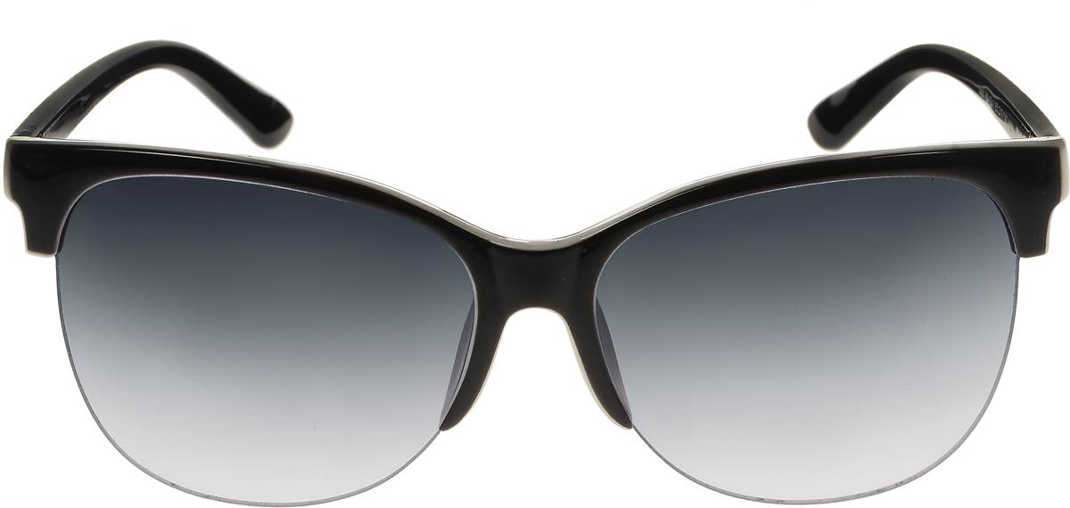 Очки солнцезащитные женские Vittorio Richi, цвет: черный. ОС5001с80-13-1/17fОС5001с80-13-1/17fСолнцезащитные очки Vittorio Richi выполнены из высококачественного пластика. Пластик используемый при изготовлении линз не искажает изображение, не подвержен нагреванию и вредному воздействию солнечных лучей. Оправа очков легкая, прилегающей формы и поэтому обеспечивает максимальный комфорт. Такие очки защитят глаза от ультрафиолетовых лучей, подчеркнут вашу индивидуальность и сделают ваш образ завершенным.