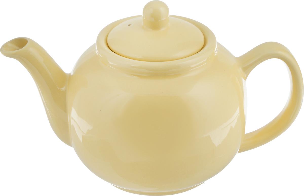 Чайник заварочный Loraine, цвет: желтый, 940 мл24868Заварочный чайник Loraine изготовлен из прочной керамики высокого качества без примеси ПФОК. Глазурованное покрытие делает поверхность абсолютно гладкой и легкой для чистки. Изделие прекрасно подходит для заваривания вкусного и ароматного чая, травяных настоев. Оригинальный дизайн сделает чайник настоящим украшением стола. Он удобен в использовании и понравится каждому. Можно мыть в посудомоечной машине, использовать в микроволновой печи и ставить в холодильник. Диаметр чайника (по верхнему краю): 9 см. Высота чайника (без учета крышки): 11,5 см.