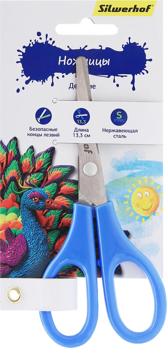Silwerhof Ножницы детские Пластилиновая коллекция цвет голубой 13,3 см