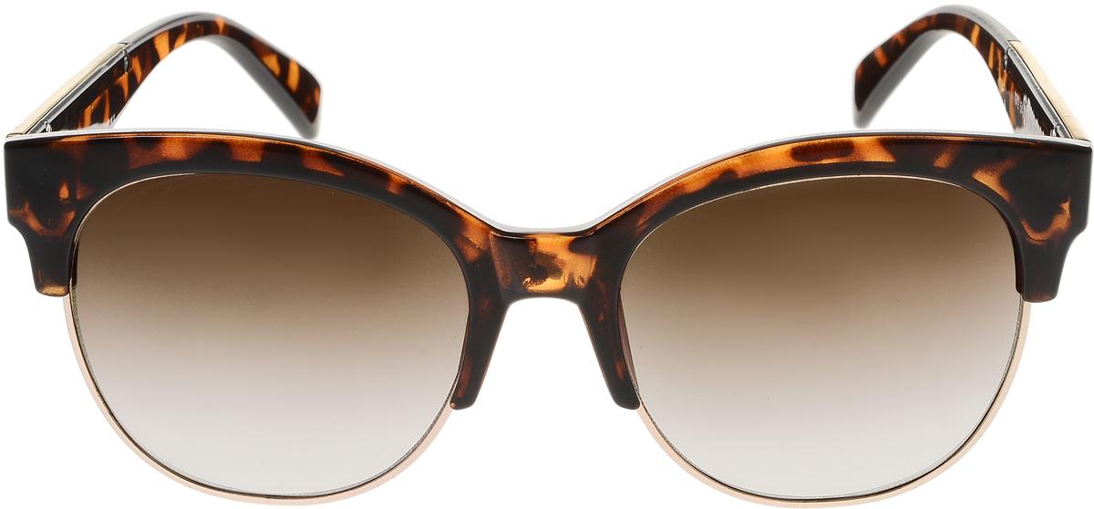 Очки солнцезащитные женские Vittorio Richi, цвет: коричневый, золотой. OC1972с5/17fOC1972с5/17fСолнцезащитные очки Vittorio Richi выполнены из высококачественного пластика и металла. Пластик используемый при изготовлении линз не искажает изображение, не подвержен нагреванию и вредному воздействию солнечных лучей. Оправа очков легкая, прилегающей формы и поэтому обеспечивает максимальный комфорт. Такие очки защитят глаза от ультрафиолетовых лучей, подчеркнут вашу индивидуальность и сделают ваш образ завершенным.