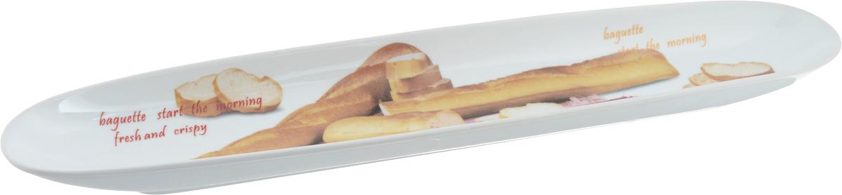 Блюдо овальное Loraine, 47 х 9 см637Блюдо овальное Loraine изготовлено из качественной керамики с глазурованным покрытием. Изделие имеет овальную форму и оформлено оригинальным изображением. Блюдо идеально подойдет для красивой подачи багета. Такое блюдо красиво оформит ваш стол и станет незаменимым на вашей кухне.