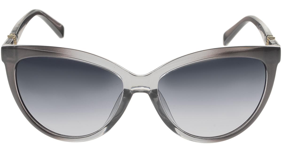 Очки солнцезащитные женские Vittorio Richi, цвет: серый. OC5111c80-20/17fOC5111c80-20/17fСолнцезащитные очки Vittorio Richi выполнены из высококачественного пластика. Пластик используемый при изготовлении линз не искажает изображение, не подвержен нагреванию и вредному воздействию солнечных лучей. Оправа очков легкая, прилегающей формы и поэтому обеспечивает максимальный комфорт. Такие очки защитят глаза от ультрафиолетовых лучей, подчеркнут вашу индивидуальность и сделают ваш образ завершенным.